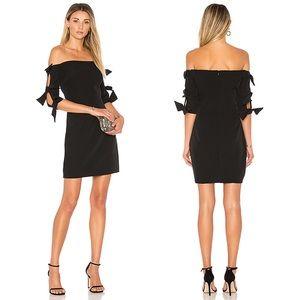 Milly Caroline Half Sleeve Black Sheath Dress NWT